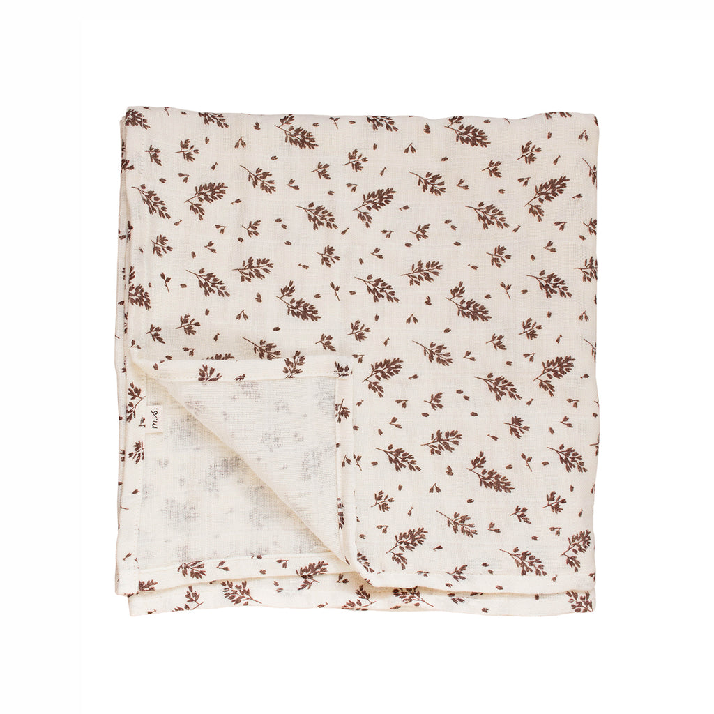 Main Sauvage Large Swaddle - Meadow