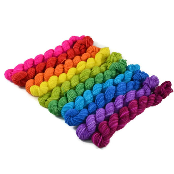 10 Skein Percival Mini Bright Rainbow Set