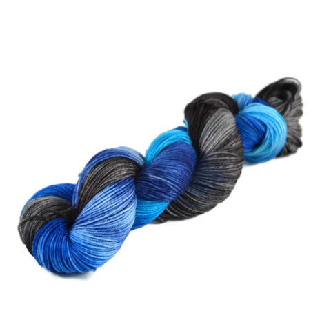 Percival Merino Nylon Fingering Sock Yarn - Black Ice
