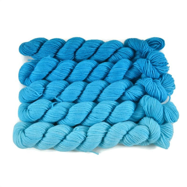 Gradient Fingering Mini Skein Set - Aquarium
