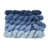 Gradient Fingering Mini Skein Set - Navy