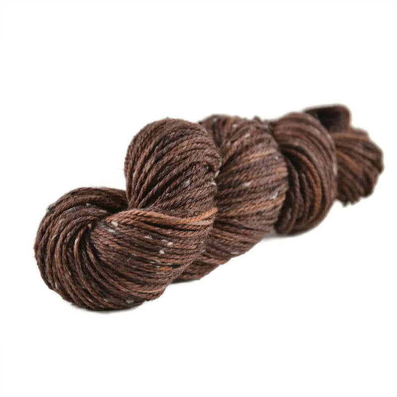 Shield Merino Tweed Aran Yarn - Chocolate