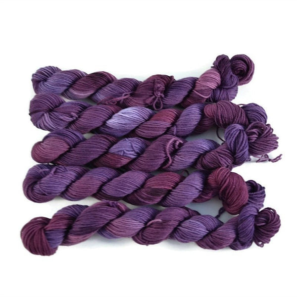Percival Merino Fingering Yarn Mini Skeins - Raisins