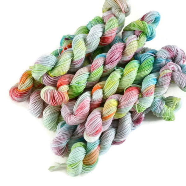 Percival Merino Fingering Yarn Mini Skeins - Cloud 9