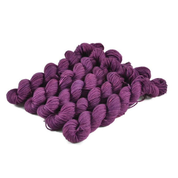 Percival Merino Fingering Yarn Mini Skeins - Amethyst