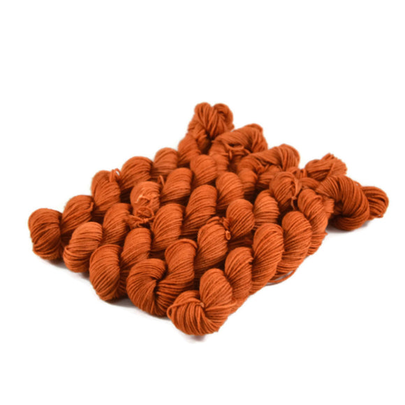 Percival Merino Fingering Yarn Mini Skeins - Pumpkin