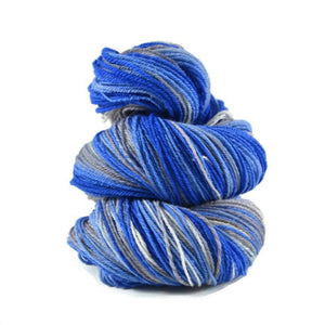 Handspun Organic Polworth Yarn 3 ply Fingering weight, 442 yards - Cinderella