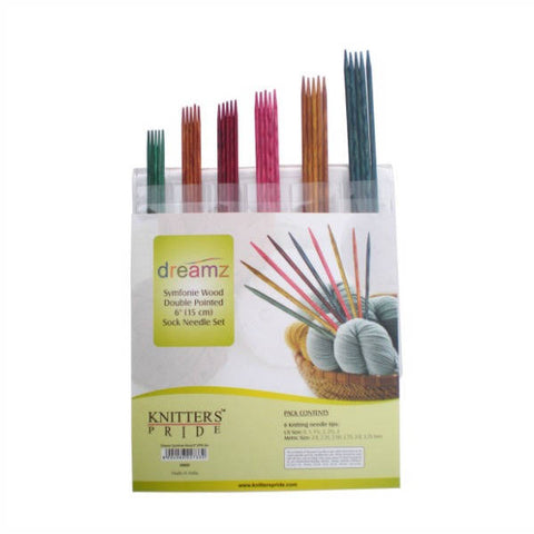 Knitter's Pride Dreamz Double Point Needle Sock Set - 6""