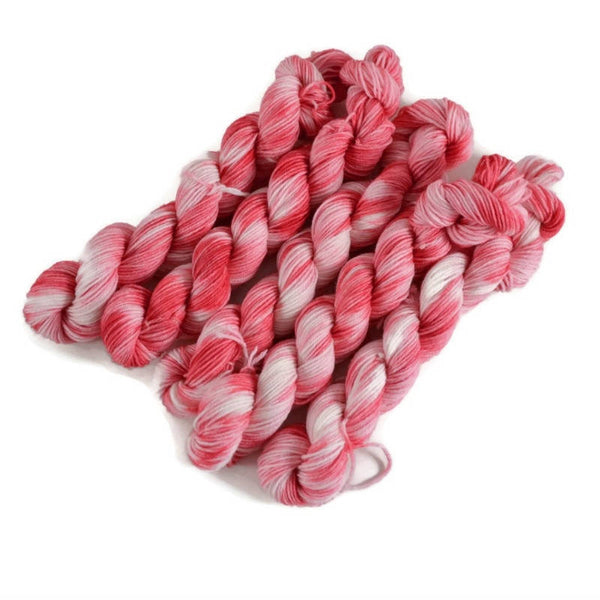 Percival Merino Fingering Yarn Mini Skeins - Bubblegum Reflections