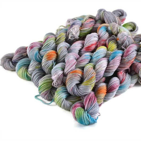 Percival Merino Fingering Yarn Mini Skeins - Silver Lining