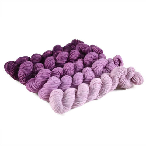 Gradient Fingering Mini Skein Set - Amethyst