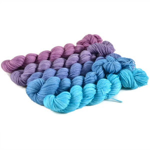 Gradient Fingering Mini Skein Set - Twilight
