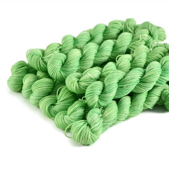 Percival Merino Fingering Yarn Mini Skeins - Lime