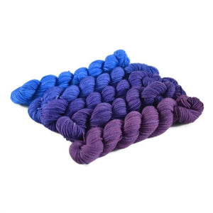 Gradient Fingering Mini Skein Set - Eclipse