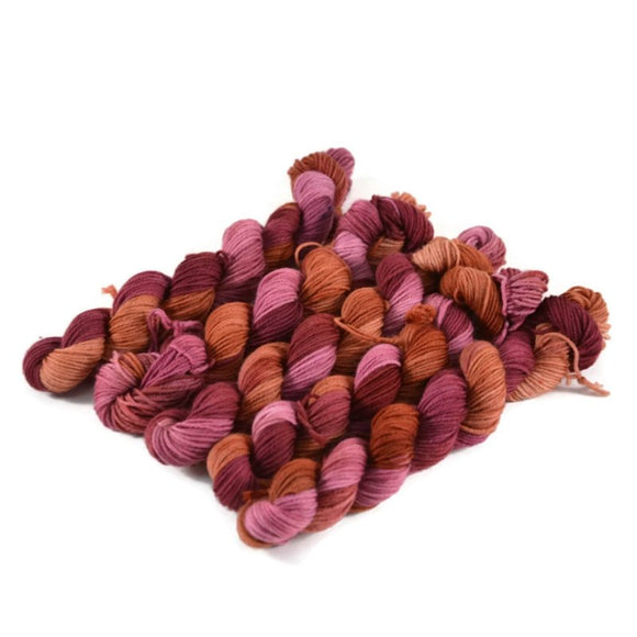 Percival Merino Fingering Yarn Mini Skeins - Raspberry Muffin