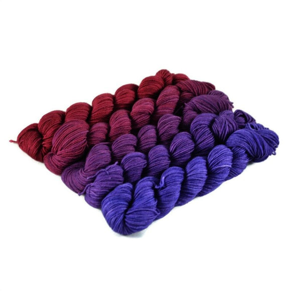 Gradient Fingering Mini Skein Set - Nebula