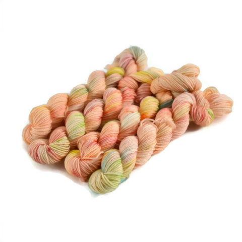 Percival Merino Fingering Yarn Mini Skeins - Sherbet