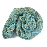 Handspun Alpaca Merino Silk Yarn 2 ply Bulky weight, 123 yards - Echo