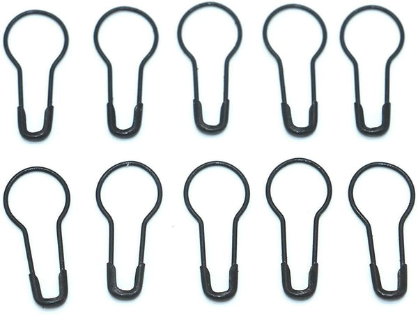 Black Bulb Safety Pin Locking Stitch Markers