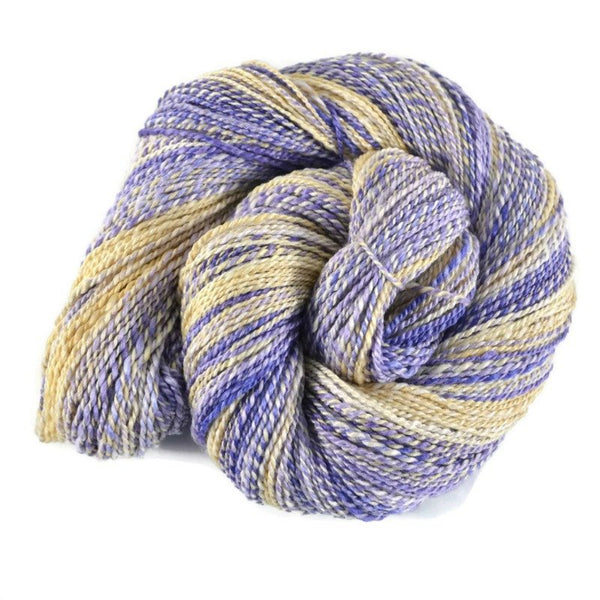 Handspun Merino Silk Yarn 2 ply Sport weight, 305 yards - Iris