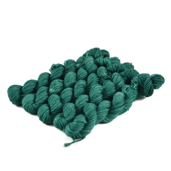 Percival Merino Fingering Yarn Mini Skeins - Emerald