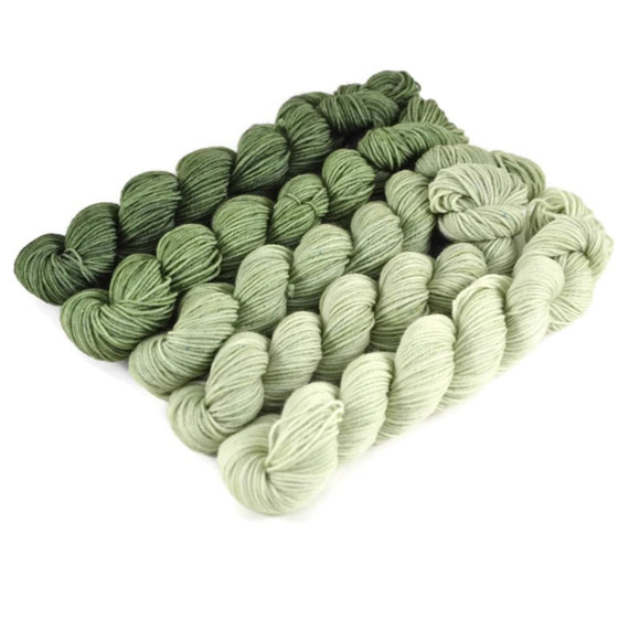 Gradient Fingering Mini Skein Set - Forest