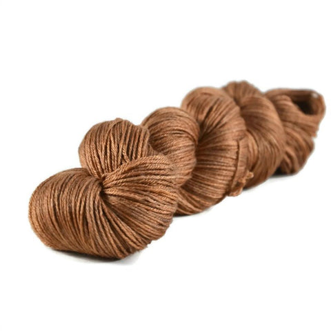 Tristan Merino Silk Fingering Yarn - Copper