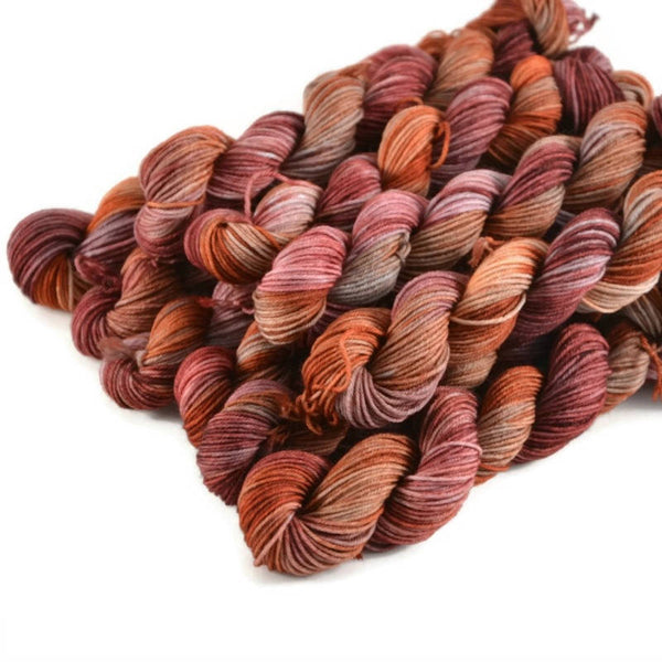 Percival Merino Fingering Yarn Mini Skeins - Catching Fire
