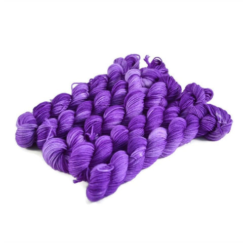 Percival Merino Fingering Yarn Mini Skeins - Shrinking Violet