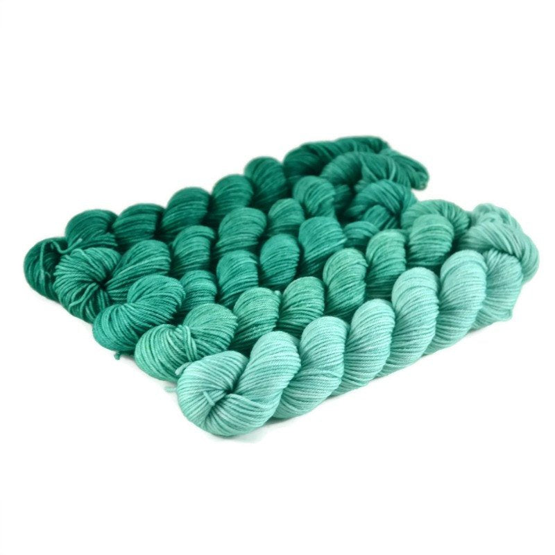 Gradient Fingering Mini Skein Set - Christmas