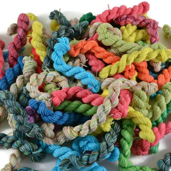 Sock Yarn Mini Skein Mystery Grab Bag - Bright
