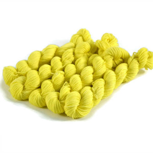 Percival Merino Fingering Yarn Mini Skeins - Lemon