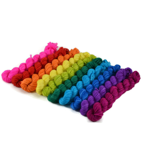 10 Mini Skein Merlin Bright Rainbow Set