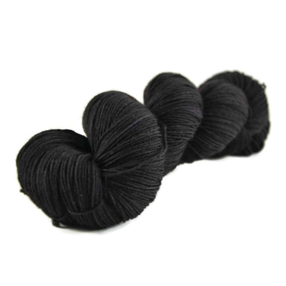 Percival Merino Nylon Fingering Sock Yarn - Onyx