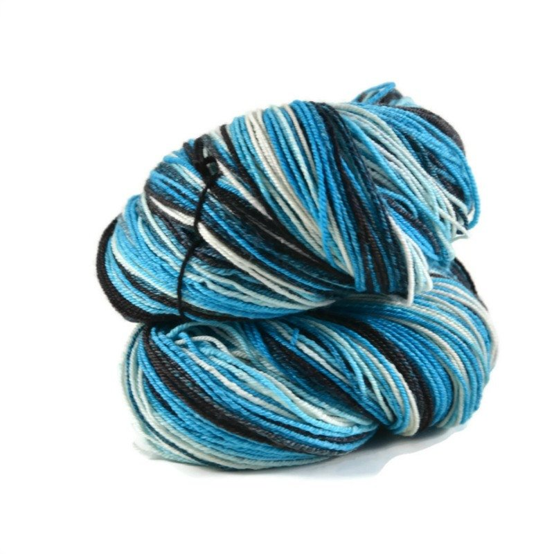 Handspun Merino Silk 3 ply Sport weight, 625 yards - Midnight Express