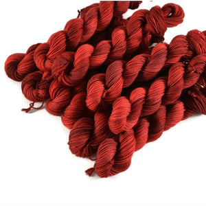 Percival Merino Fingering Yarn Mini Skeins - Cherry Pie