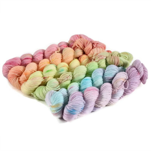Gradient Fingering Mini Skein Set - Double Rainbow