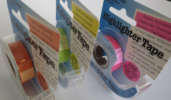 Removable Highlighter Tape • 3-Line