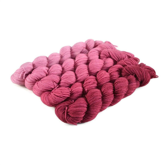 Gradient Fingering Mini Skein Set - Berry
