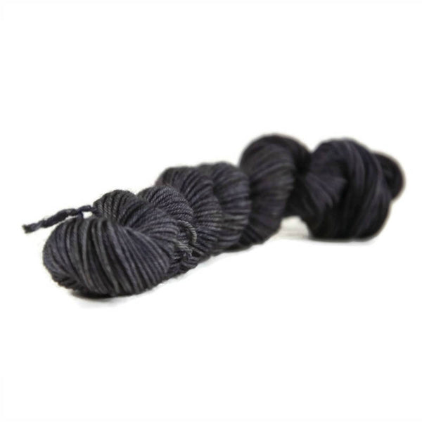 Percival Merino Fingering Yarn Mini Skeins - Gunmetal