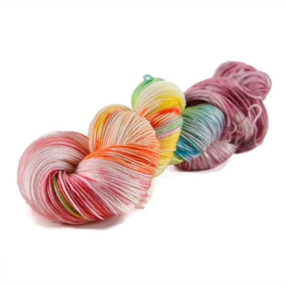 Excalibur BFL Nylon Fingering Sock Yarn - Birthday Cake