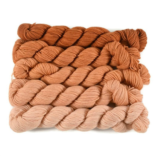 Gradient Fingering Mini Skein Set - Pumpkin