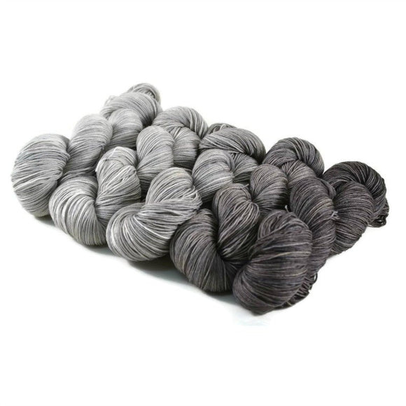 Percival Fignering Sock Yarn Gradient Set - Gunmetal