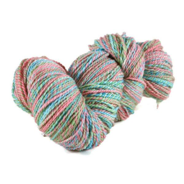 Handspun Superwash Merino Bamboo Nylon Yarn, 2 ply Worsted weight, 450 yards - Gumdrops