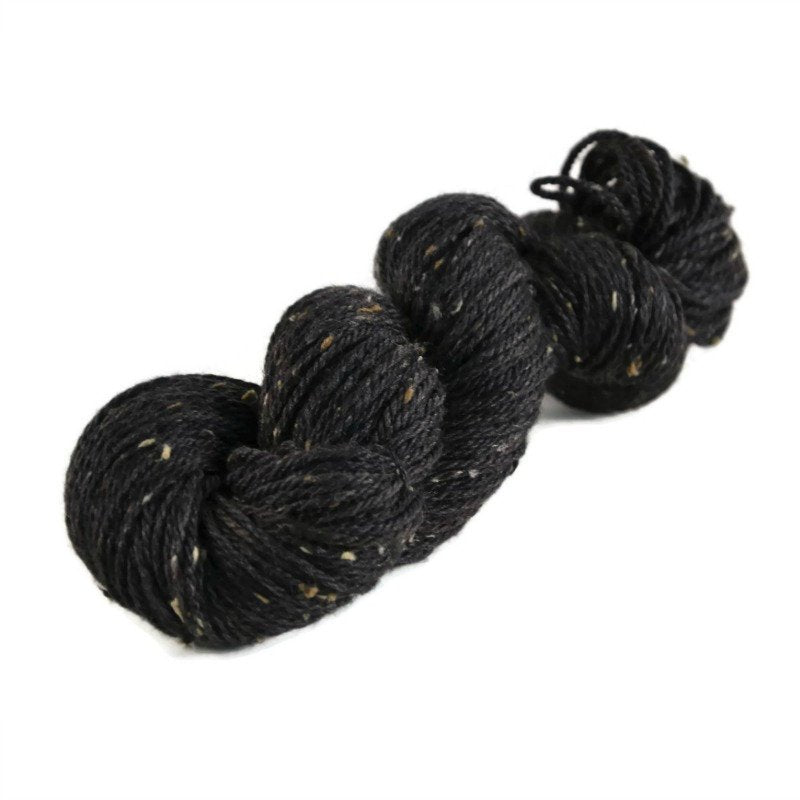 Shield Merino Tweed Aran Yarn - Onyx