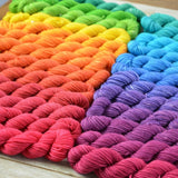 Adventurous Wrap Yarn Kit, 25 Mini Skeins - Rainbow Gradient