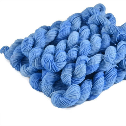 Percival Merino Fingering Yarn Mini Skeins - Sky