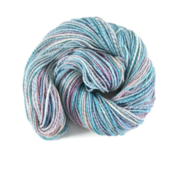 Handspun Superwash Merino Yarn 3 ply Bulky weight, 144 yards - Cotton Candy