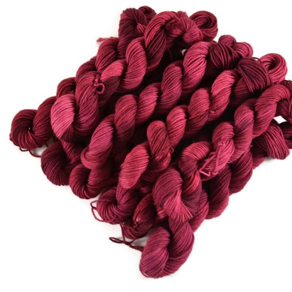 Percival Merino Fingering Yarn Mini Skeins - Berry