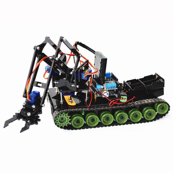 DIY RC Robot Claw Arm with Tracks